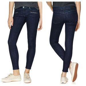 NWT Aritzia Paradise Mine Low Rise Skinny Zip Jean